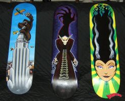 3 skateboard decks by TJ-Krushervision
