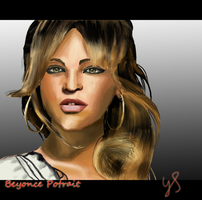 Beyonce Potrait by Johny-Kun