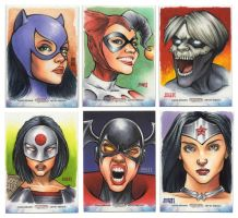 Women of Legend Sketch Cards by Erik-Maell