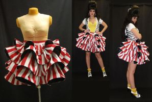 Crazy Hot Dog Lady Skirt by WanderingWindward
