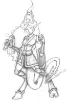 Brie the Tiefling Monk -With legs! by crowzcradle