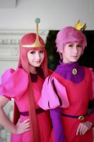 Princess Bubblegum and Prince Gumball cosplay by Rinoa-Ulti