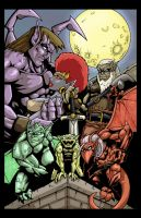 Gargoyles all colored up by Kyle-Fast