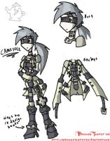 Straight Jacket Gal -concept- by BrokenTeapot