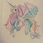 Rainbow Allicorn by MeryshorArt