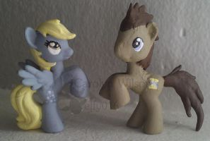 Derpy and Doctor Whooves Blindbag repaints MLP FIM by elfy016
