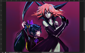Lilin x Alice WIP by Ka-ou