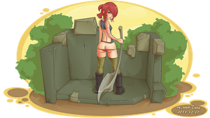 Axe Girl by Dillerkind