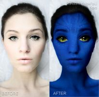 Navi Avatar before and after by RandomArtWorkForU