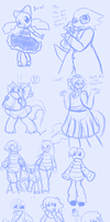 Undertale Doodles by AD-SD-ChibiGirl