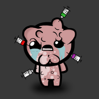 Isaac with all the injections at once by Gochure