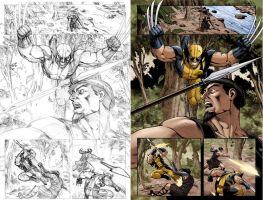 Wolverine vs The Huntsman by ReillyBrown