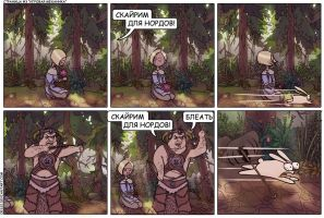 3-page Skyrim comics rus ver by Oessi