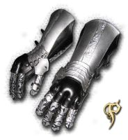 Black and Silver Gauntlets by Azmal