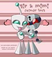GiR and Mimi- Fwiends 4EvA by Grim-Raider