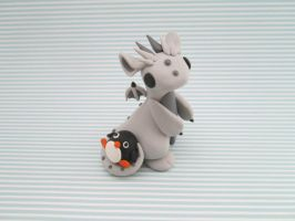 Dragon with a Penguin plush by KriannaCrafts
