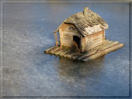 A house in the middle of ice... by Yancis