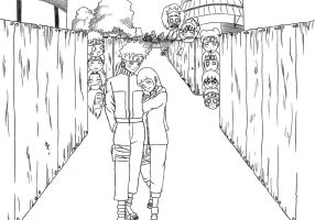 Walking down the street with you (Lineart) by ShiNoBi-HunTeR