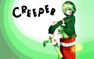 Creeper OC background by BonBonMui