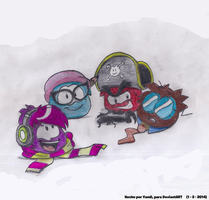 Puffles famosos! by PenguinyamilCP