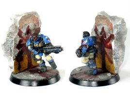 Space Marine Scout by warpainter
