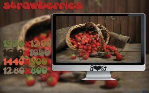 Wallpaper Stawberries by oOILOVESONGOo