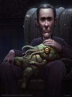 Like Father Like Son: A Portrait of HP Lovecraft by AlexKonstad