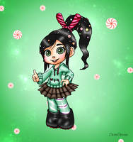 Sugar Rush - New Vanellope Von Schweetz. by DrawDuverse