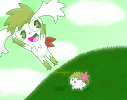 PC Skymin and Shaymin by Chenanigans