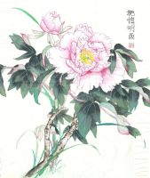 Chinese Painting- Camellia by Hope-and-Fate