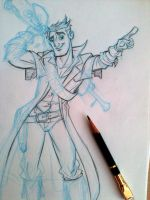 Steampunk Gunslinger by tombancroft