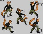 Aazim - Action poses by TheLivingShadow