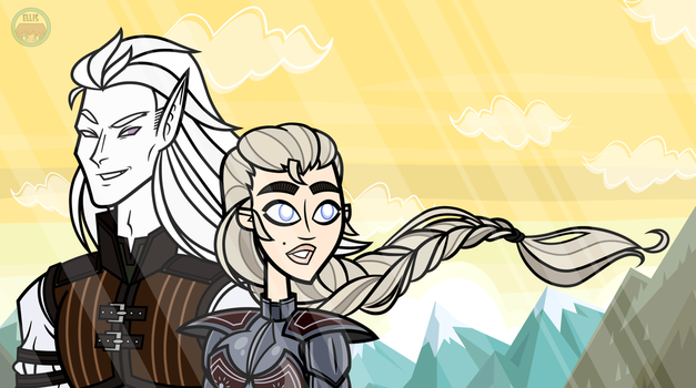 Kaanvelt and Huntress by Mother-of-Trolls