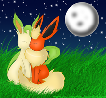 Flareon X Leafeon by Kalinel
