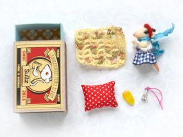 French Mouse. Mouse in a matchbox by SulizStudio