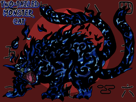 2-Tailed Monster Cat by Tails19950