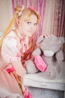 Usagi: pink dress by UsagiChiba-Selenit