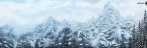 Skyrim Landscape (Extended) by KevinMassey