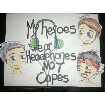My Heroes Wear Headphones Not Capes by summermidnightlights