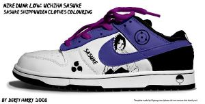 Nike Dunk Low Uchiha Sasuke v2 by DertyHarry