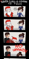 Santa Claus is coming to town. by rainbowmadafaka