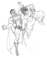 superman vs goku by jpi45