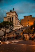 Temple/museum and church in Rome by stevegek