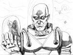 Mr Freeze painting sketch by Wessel