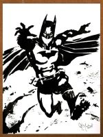 Batman Black and White 091212 by ChrisMcJunkin