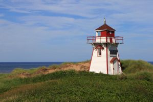 Light House at the National park of P.E.I. by Littleal1990