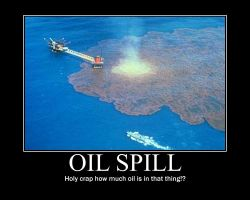 Oil Spill Motivational poster by POPCORN92