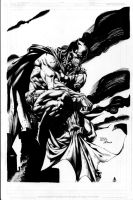Batman Pinup Inks by JPMayer