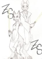 Star Wars: Kitsune And Mac by LycanFangs1941