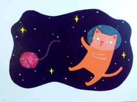 Daigaku: cat in space 5/9 by S-Aentertainment